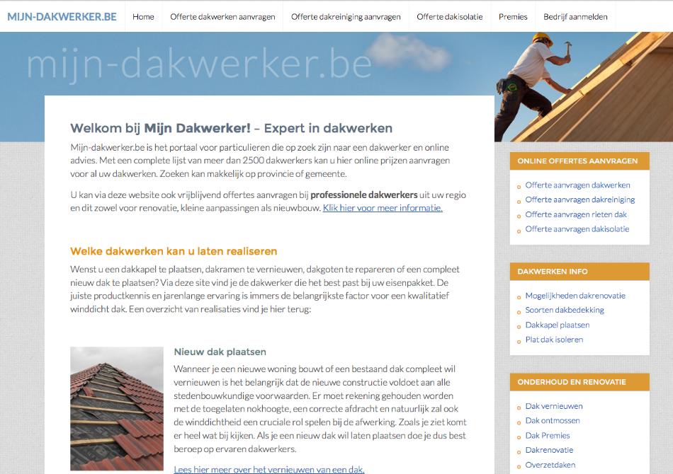 Dakwerker website